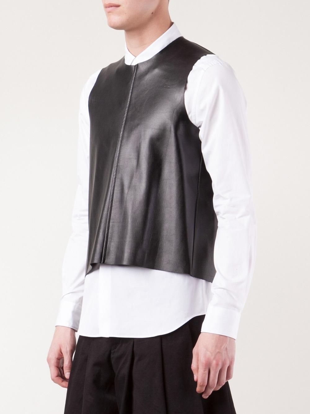 Comme Des Gar 231 Ons Open Back Vest In Black For Men Lyst