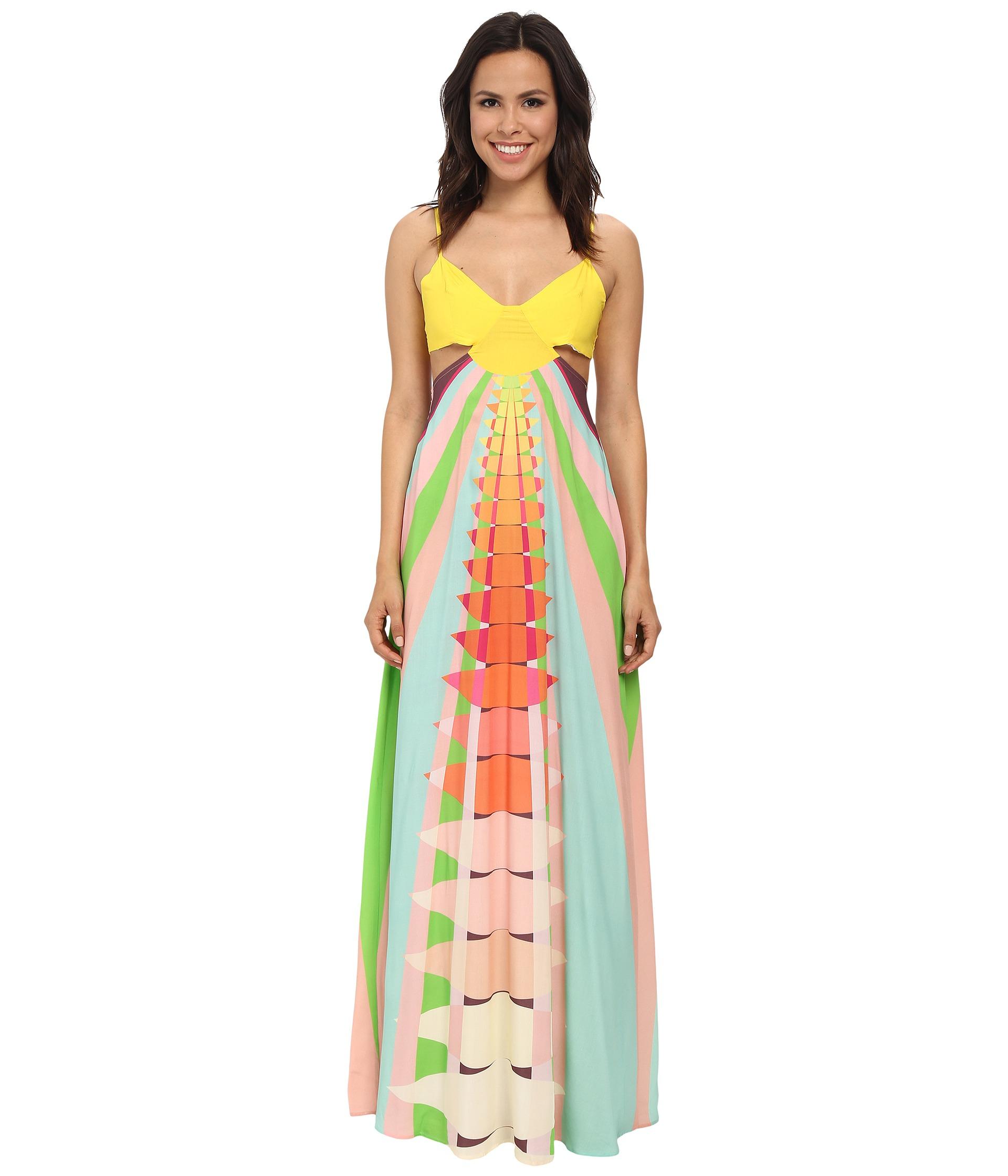 d0788e5483 Mara Hoffman Cutout Maxi Dress - Lyst
