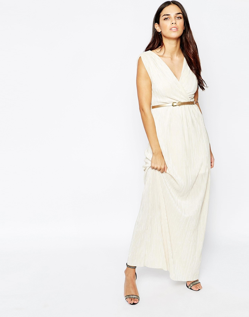 Lyst Oh My Love H My Love Pleated Grecian Maxi Dress In White