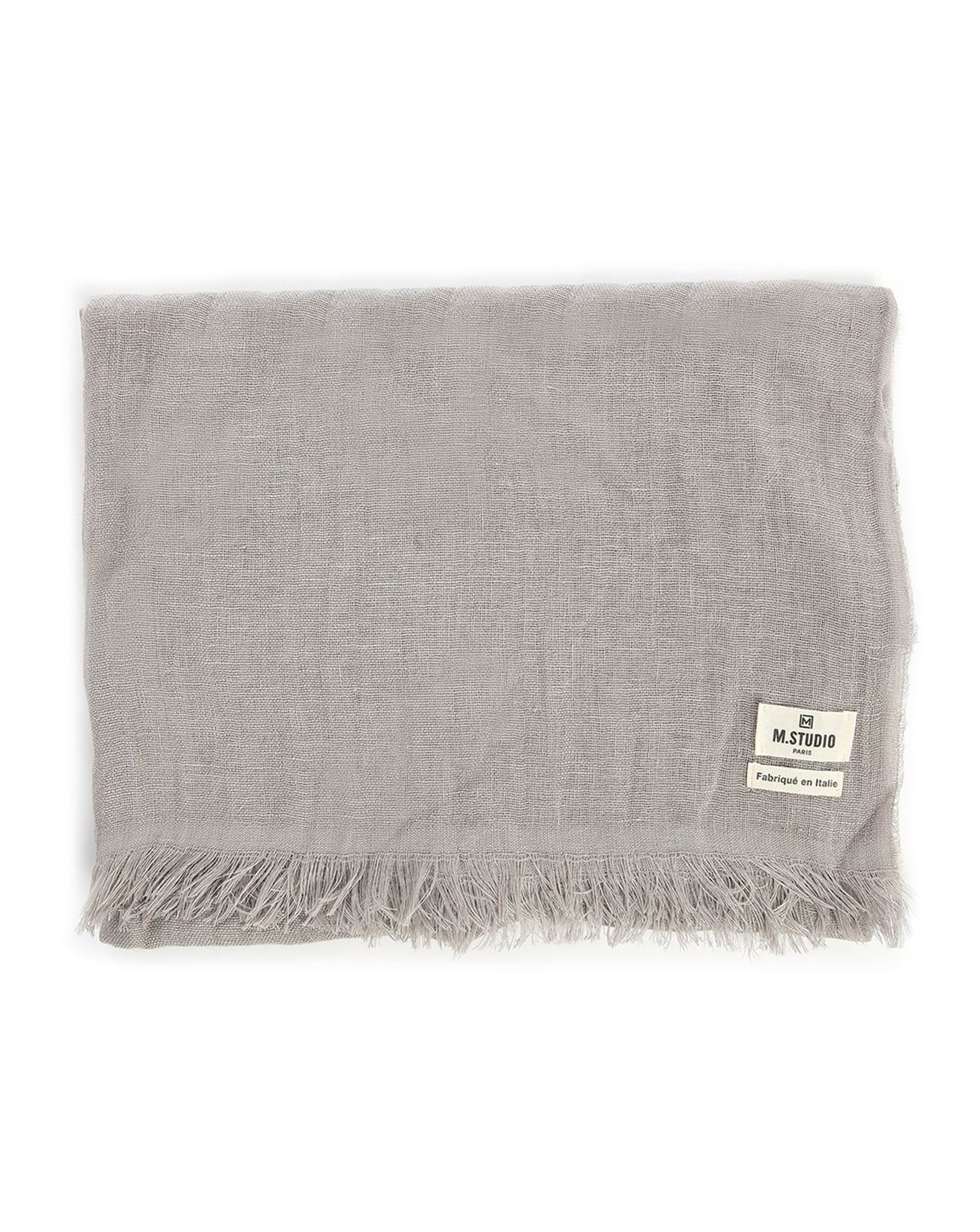 Sergei plain taupe linen scarf in natural for men lyst - Beige slaapkamer taupe ...