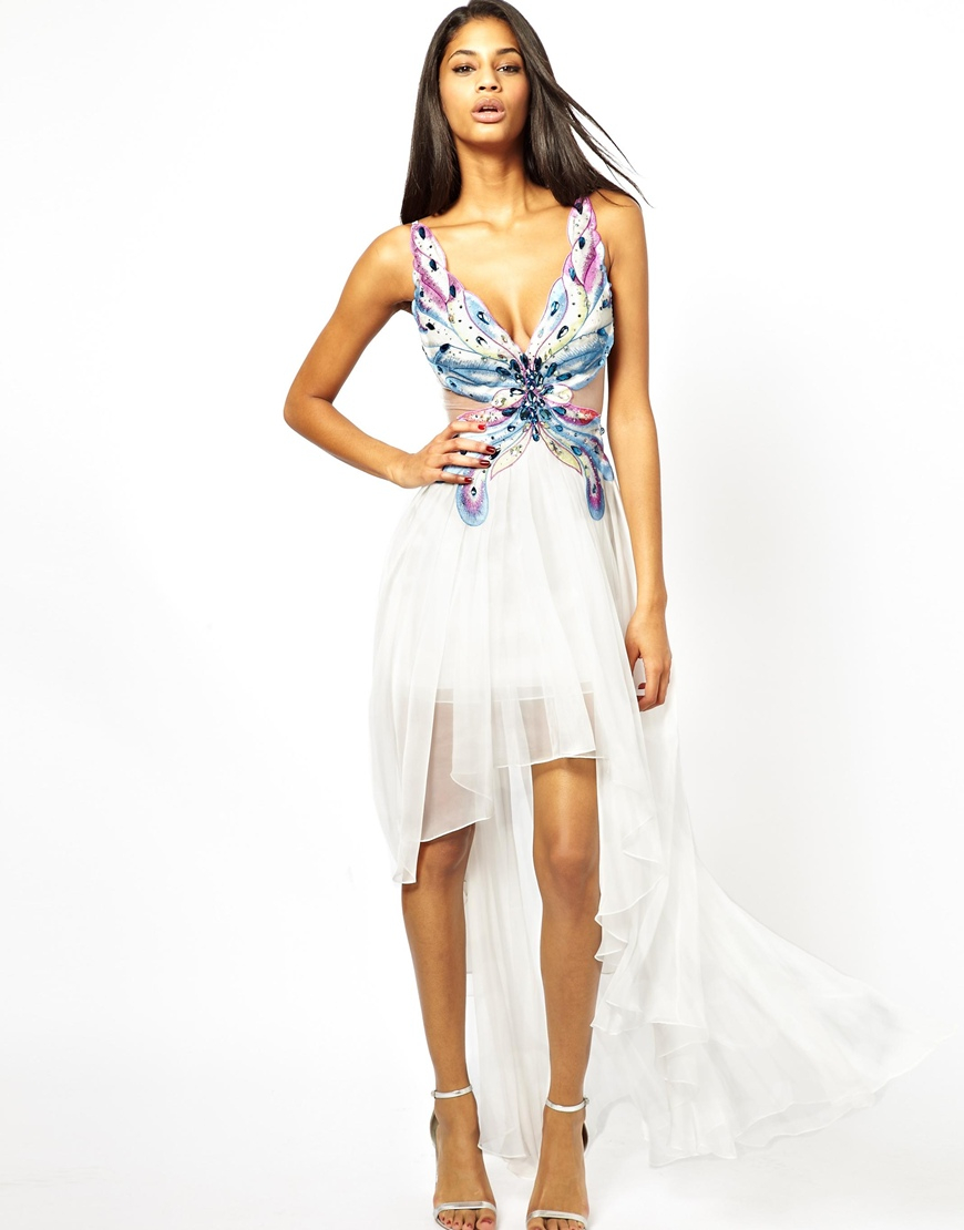 Forever Unique Snowdrop Butterfly Maxi Dress In White Lyst