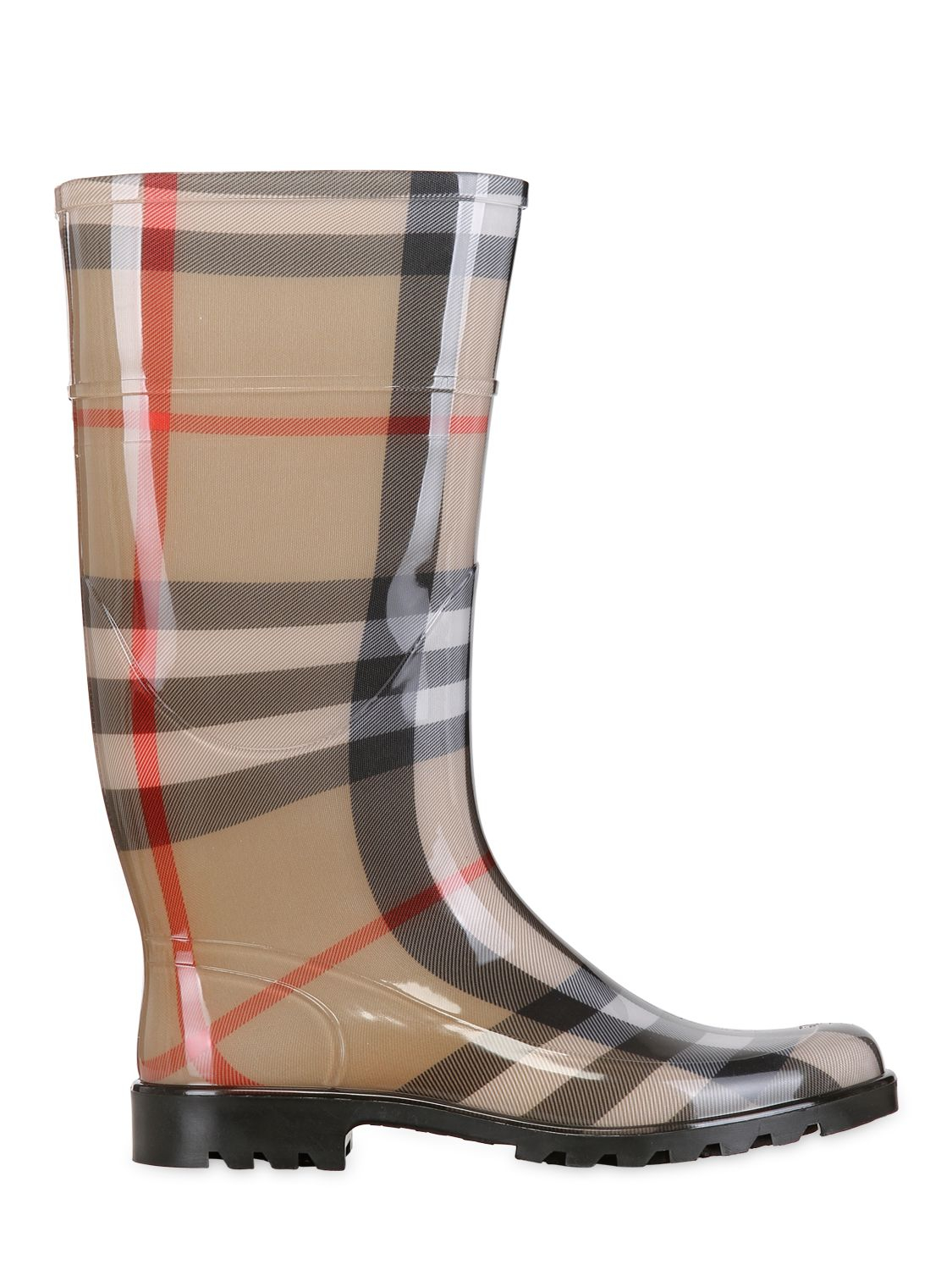 Burberry House Check Rain Boots In Natural Lyst