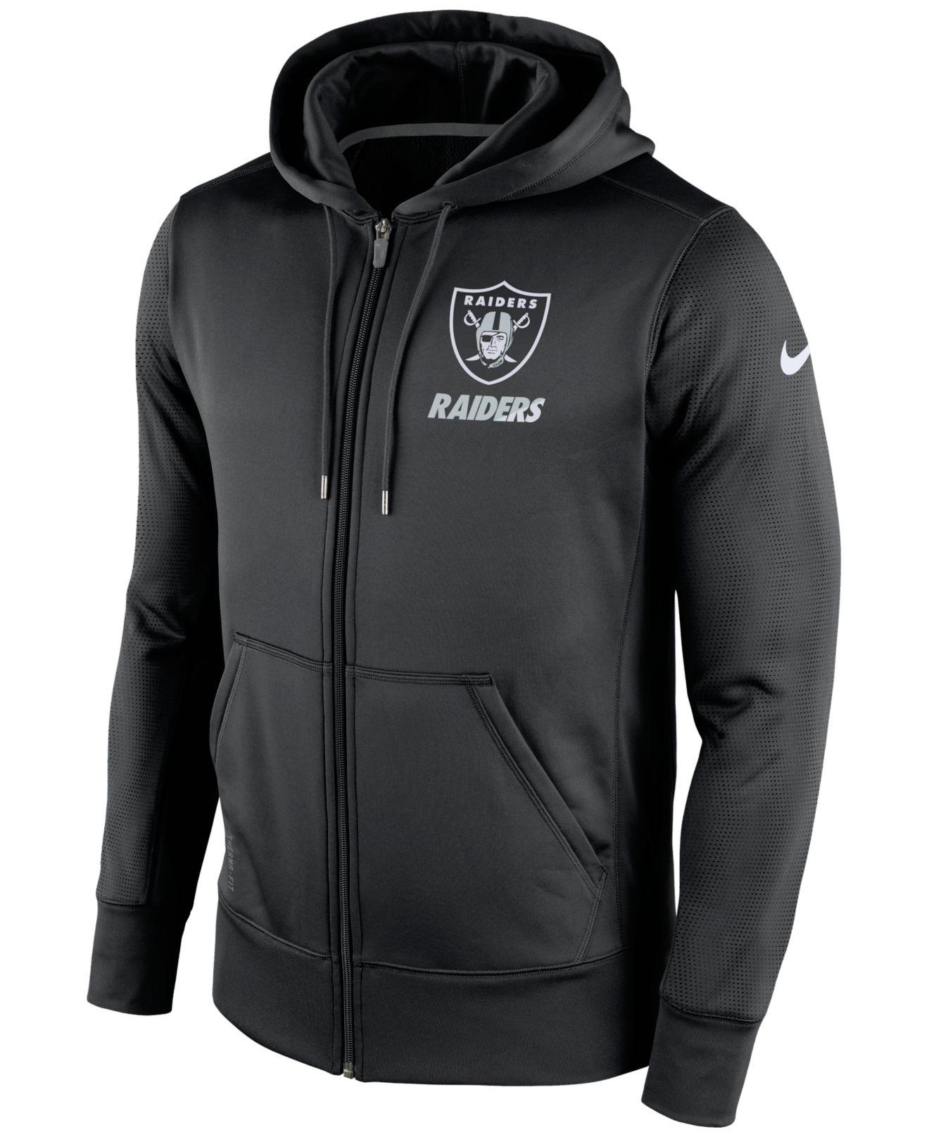 9a5087398dfba1 Lyst - Nike Men s Oakland Raiders Sideline Ko Fleece Full-zip Hoodie ...