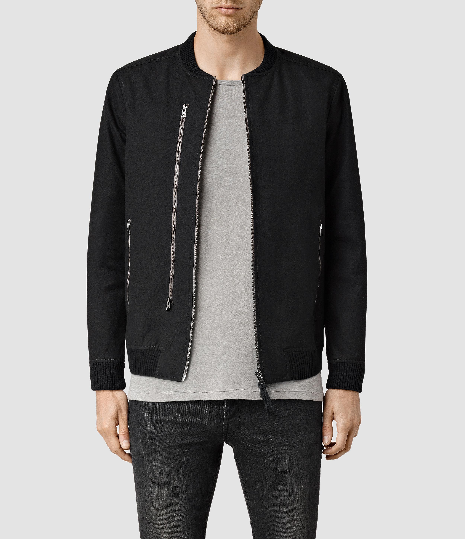 AllSaints Hamilton Bomber Jacket in Black for Men