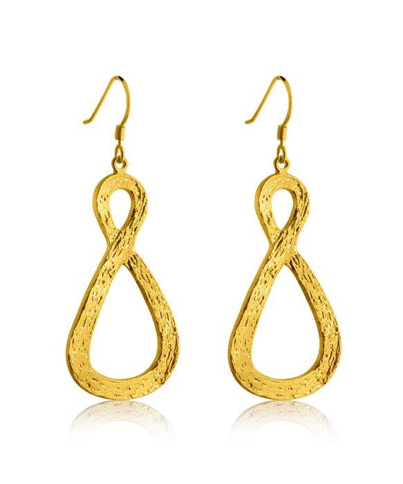 belcho infinity earrings in metallic lyst