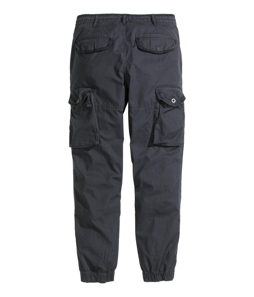 H&M Cargo Pants in Dark Blue (Blue) for Men
