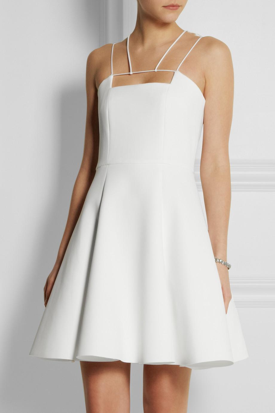 Lyst Cushnie Et Ochs Neoprene Dress In White