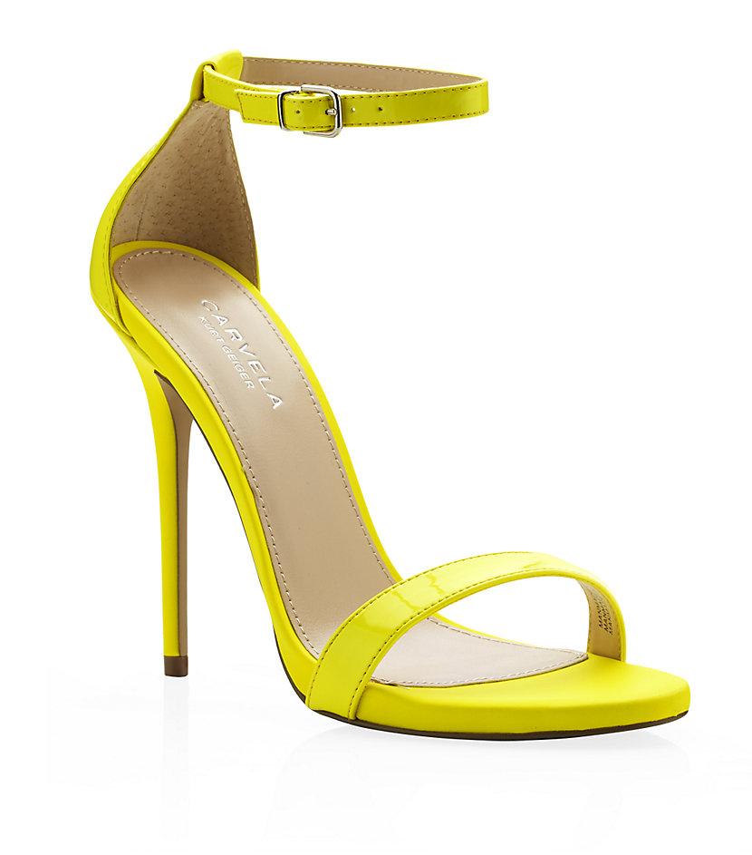 935638d6f6e4f Carvela Kurt Geiger Glacier Neon Sandals in Yellow - Lyst