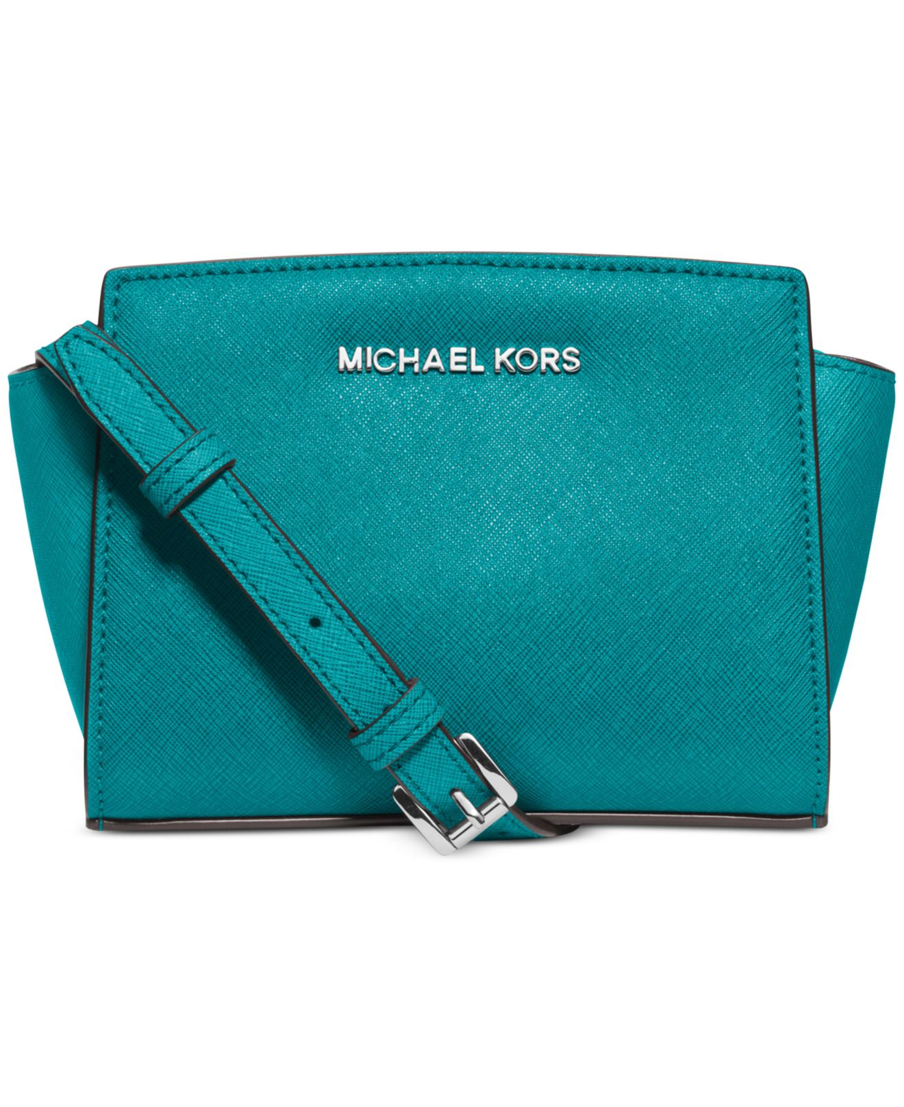 b4cac3f1e278 Lyst - Michael Kors Michael Selma Mini Messenger Bag in Blue