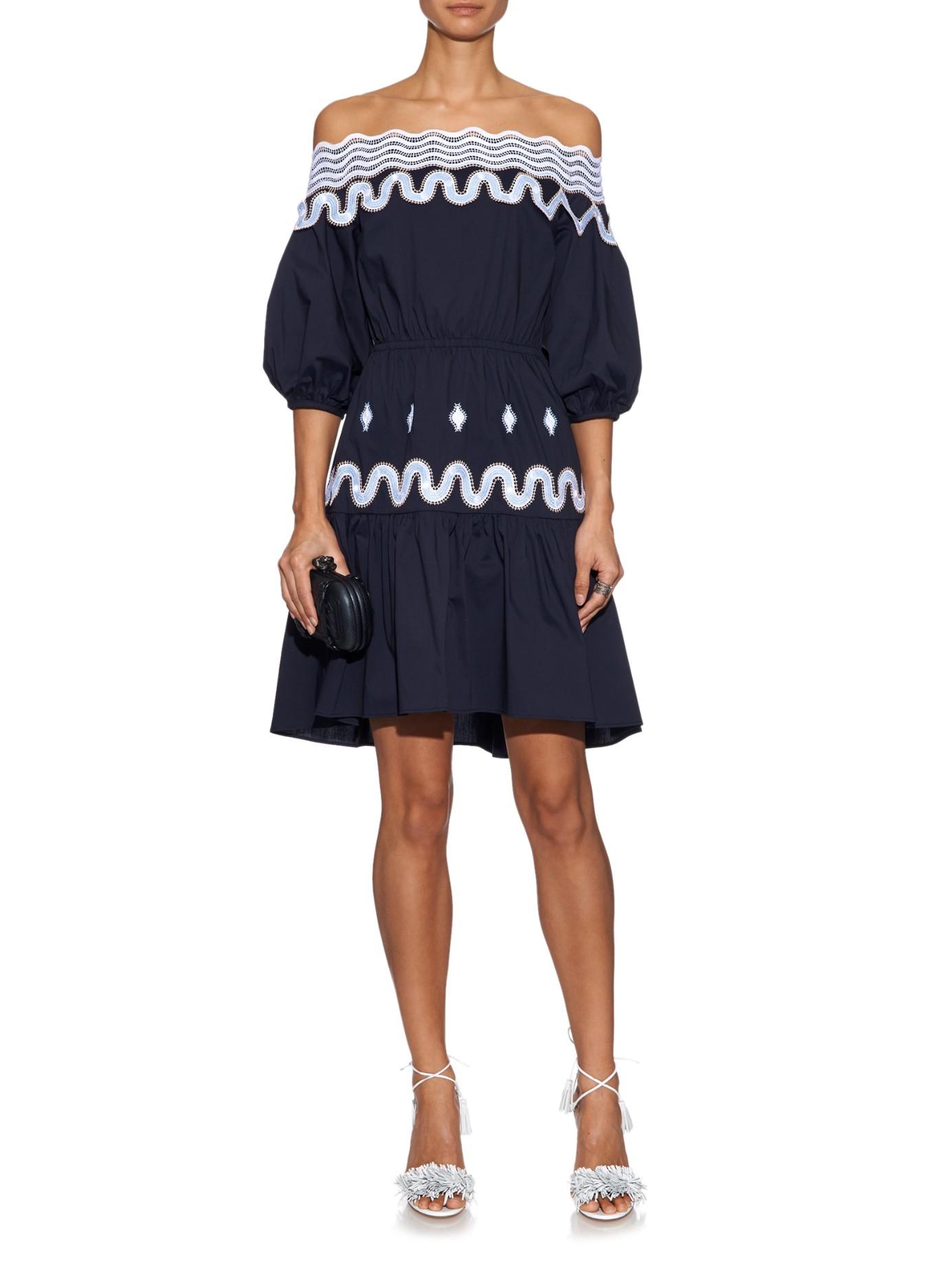 Velvet off-the-shoulder dress Peter Pilotto zS98E