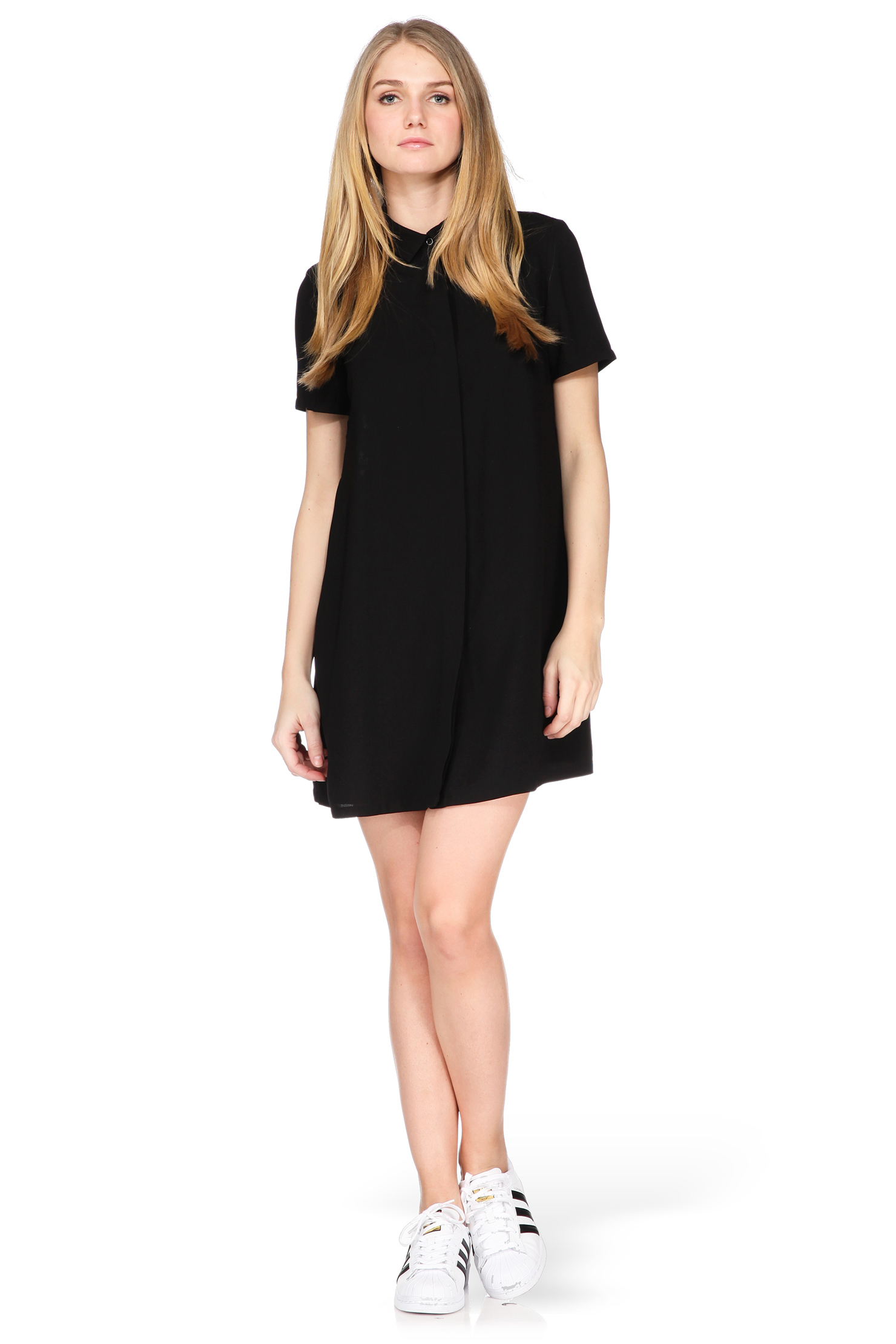 French connection shirt dress in black lyst for French connection shirt dress