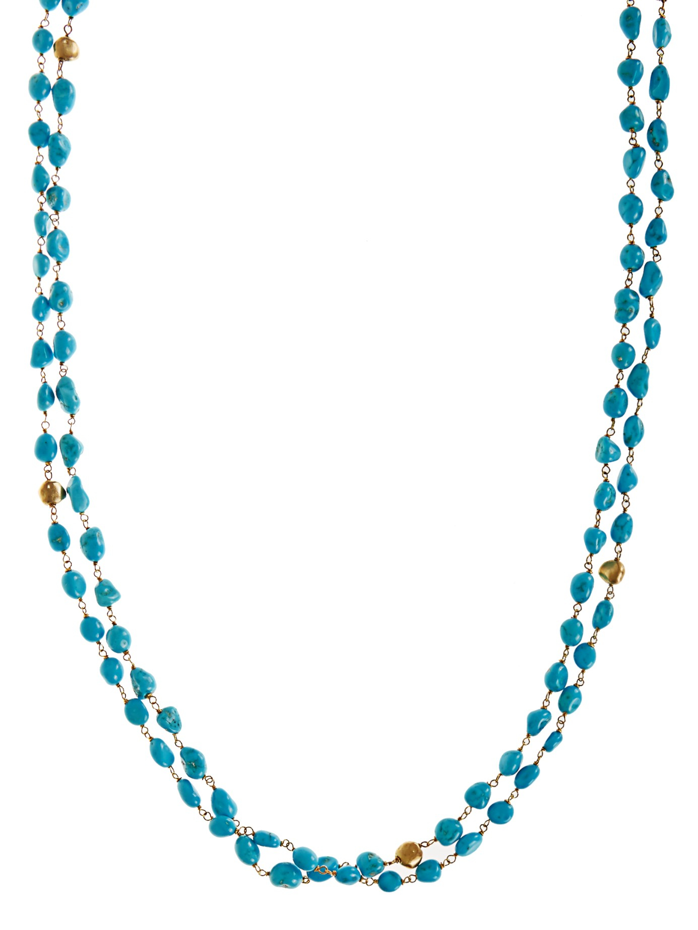 Maurizio Pintaldi Turquoise & Yellow-gold Necklace in Blue