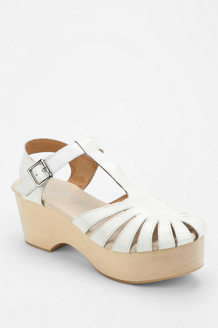 Jeffrey Campbell Rakel Platform Sandal In White Lyst
