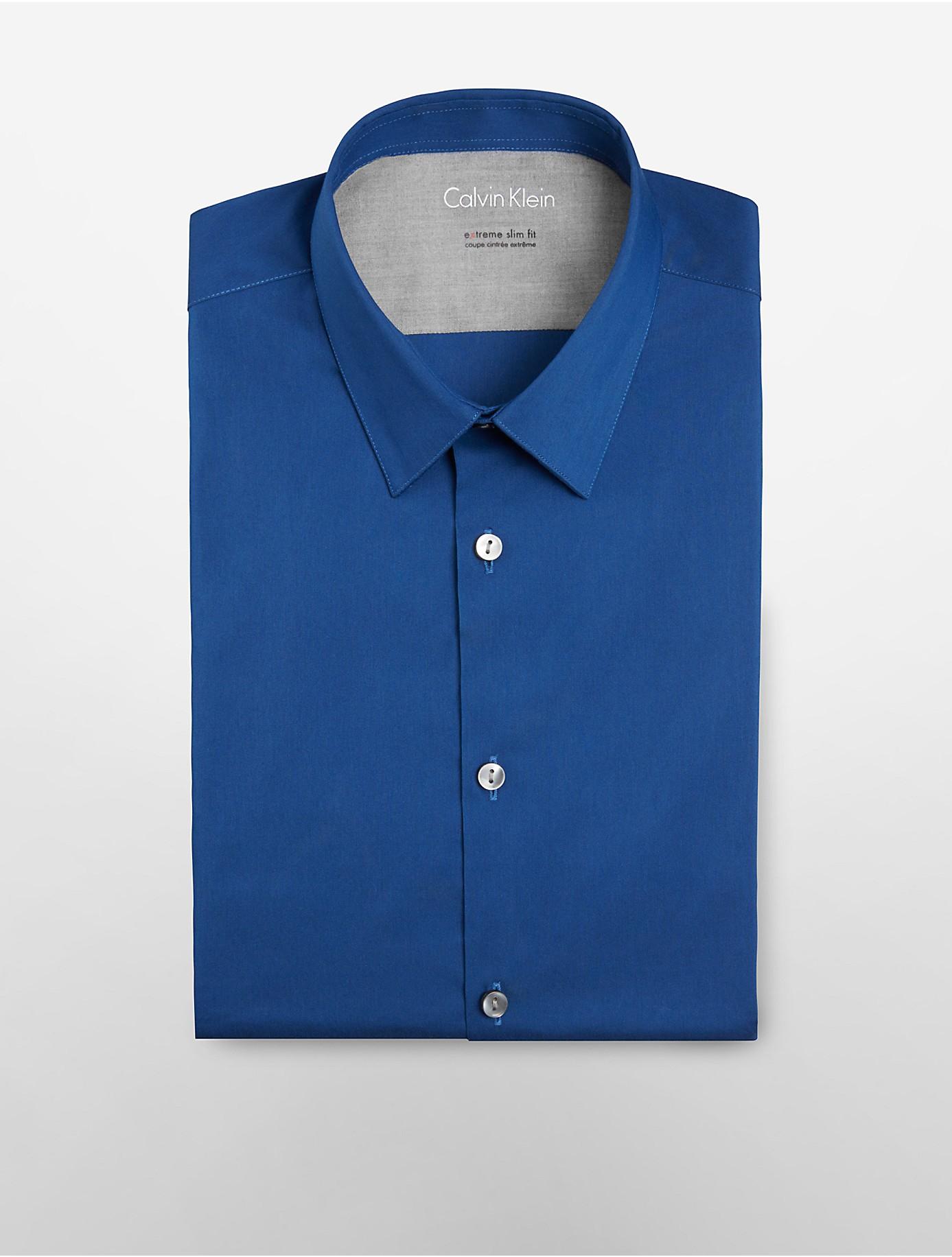 Calvin klein white label x fit ultra slim fit solid dress for Calvin klein x fit dress shirt