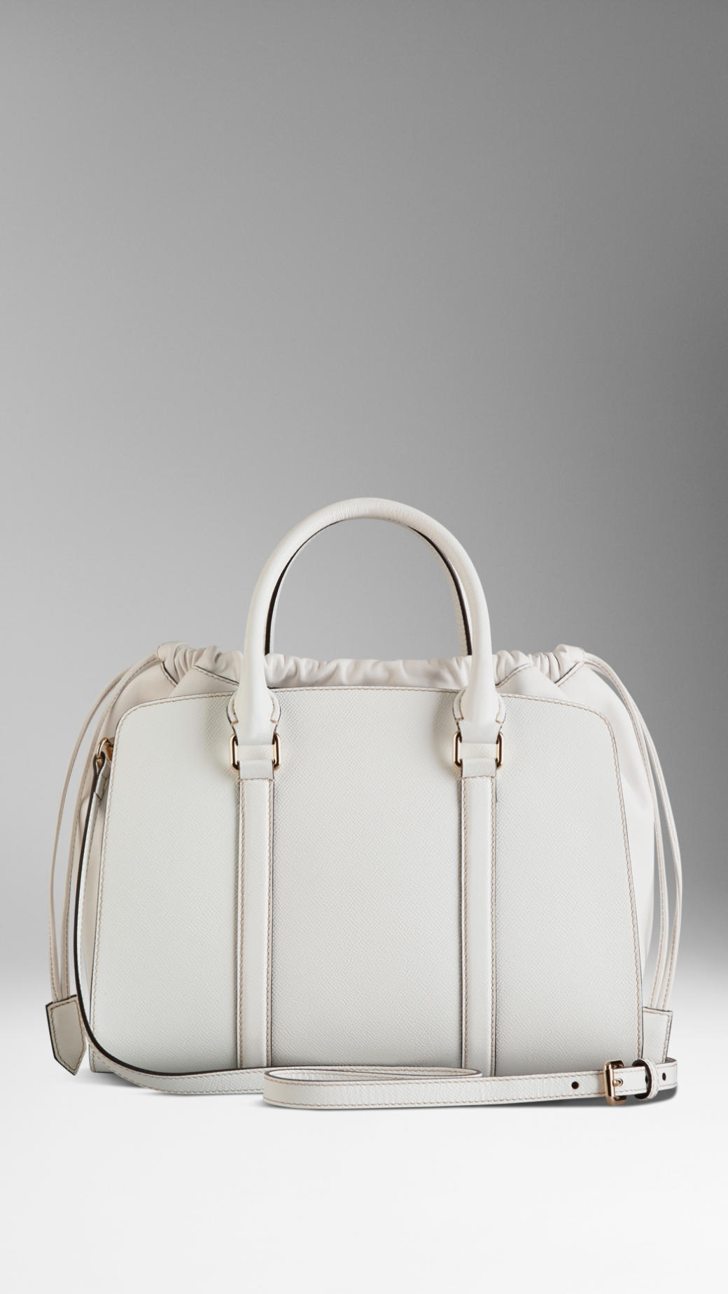 c8780e69a62 Lyst - Burberry Medium Patent London Leather Bag in White