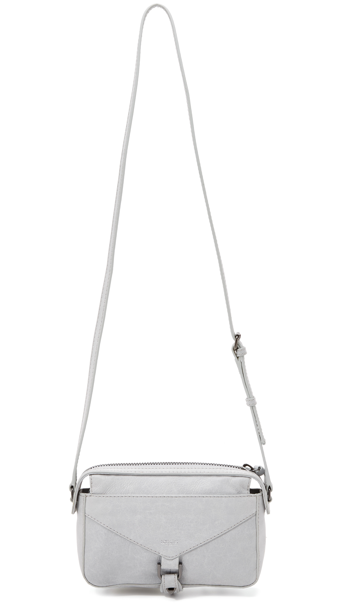 Botkier Leather Trigger East / West Cross Body Bag in Steel (Grey)