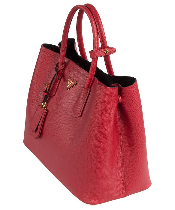 ... spain lyst prada b2756t bag f068z fuoco red saffiano cuir leather tote  in red 21953 27e4d bfed96baa4434