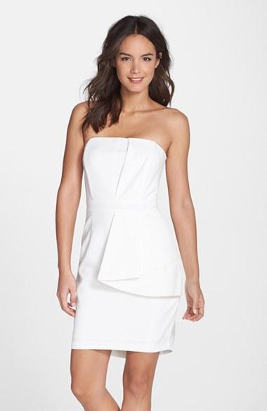 15c043564b281 Lyst - Adelyn Rae Layered Strapless Sheath Dress in White
