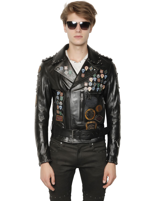 Belstaff New Bonham Pin Amp Studded Leather Jacket In Black
