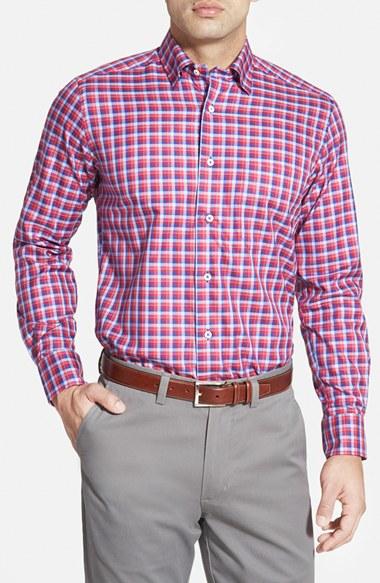 Lyst David Donahue Regular Fit Plaid Twill Sport Shirt