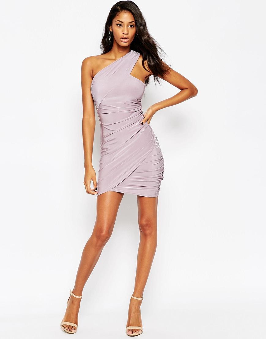 Lyst Asos Sexy Slinky Mini Dress Lilac In Purple