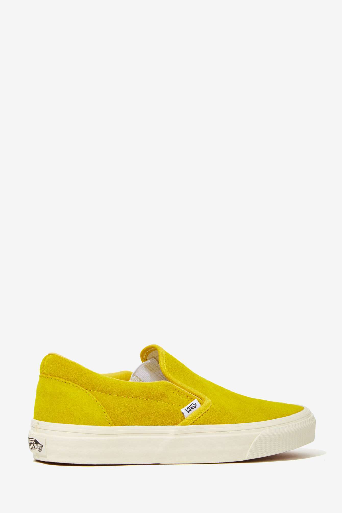 c3af7a5494e393 Lyst - Nasty Gal Vans Classic Slip-On Sneaker - Mustard Suede in Yellow