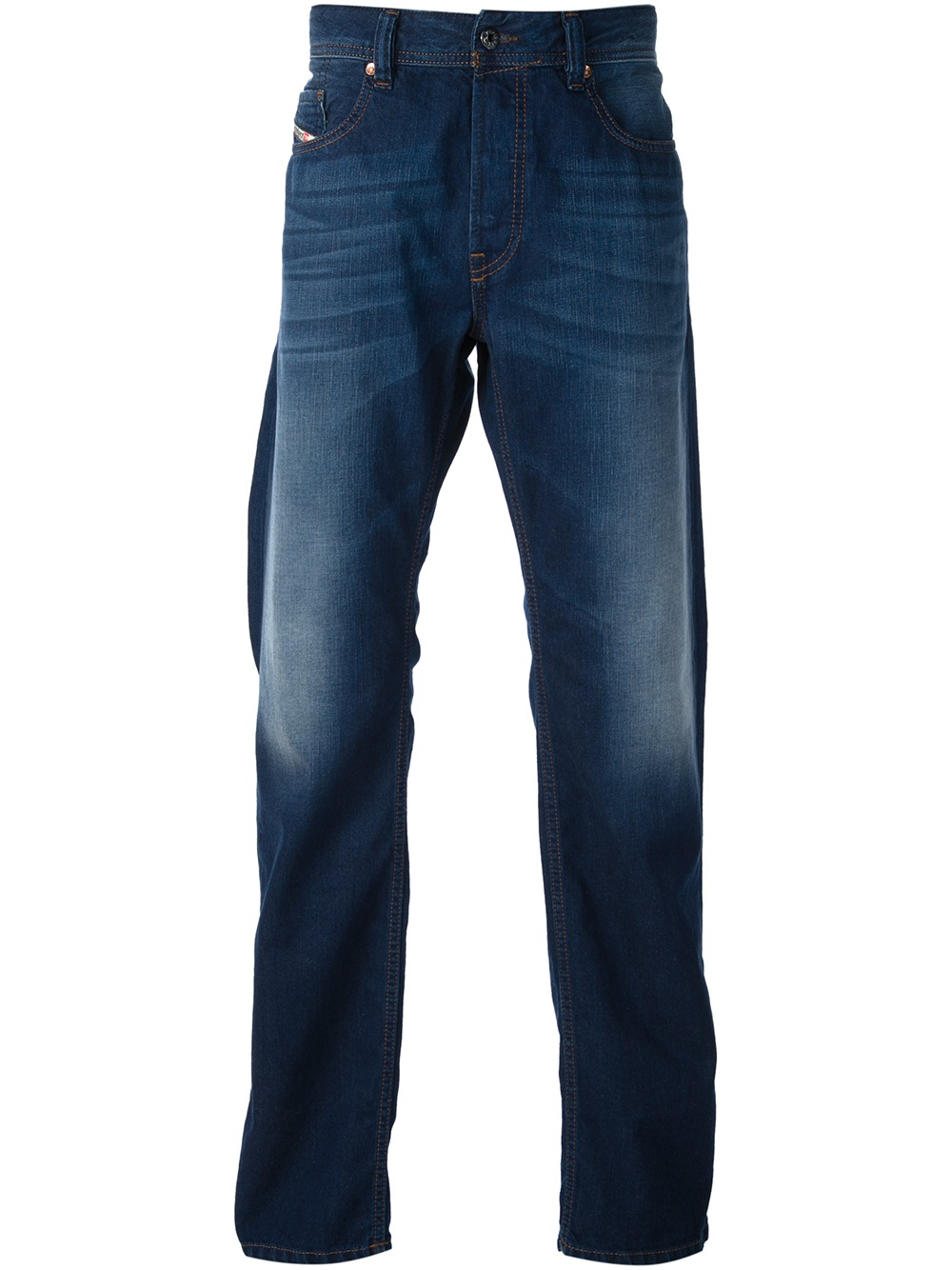 Wide-leg jean featuring heavy fading and five-pocket styling BIG JOE Mens Regular and Big&Tall Fit Jeans - Straight Leg Cut Jeans for All-Day Relaxed Comfort - Choose from Pocket Designs by BIG JOE.
