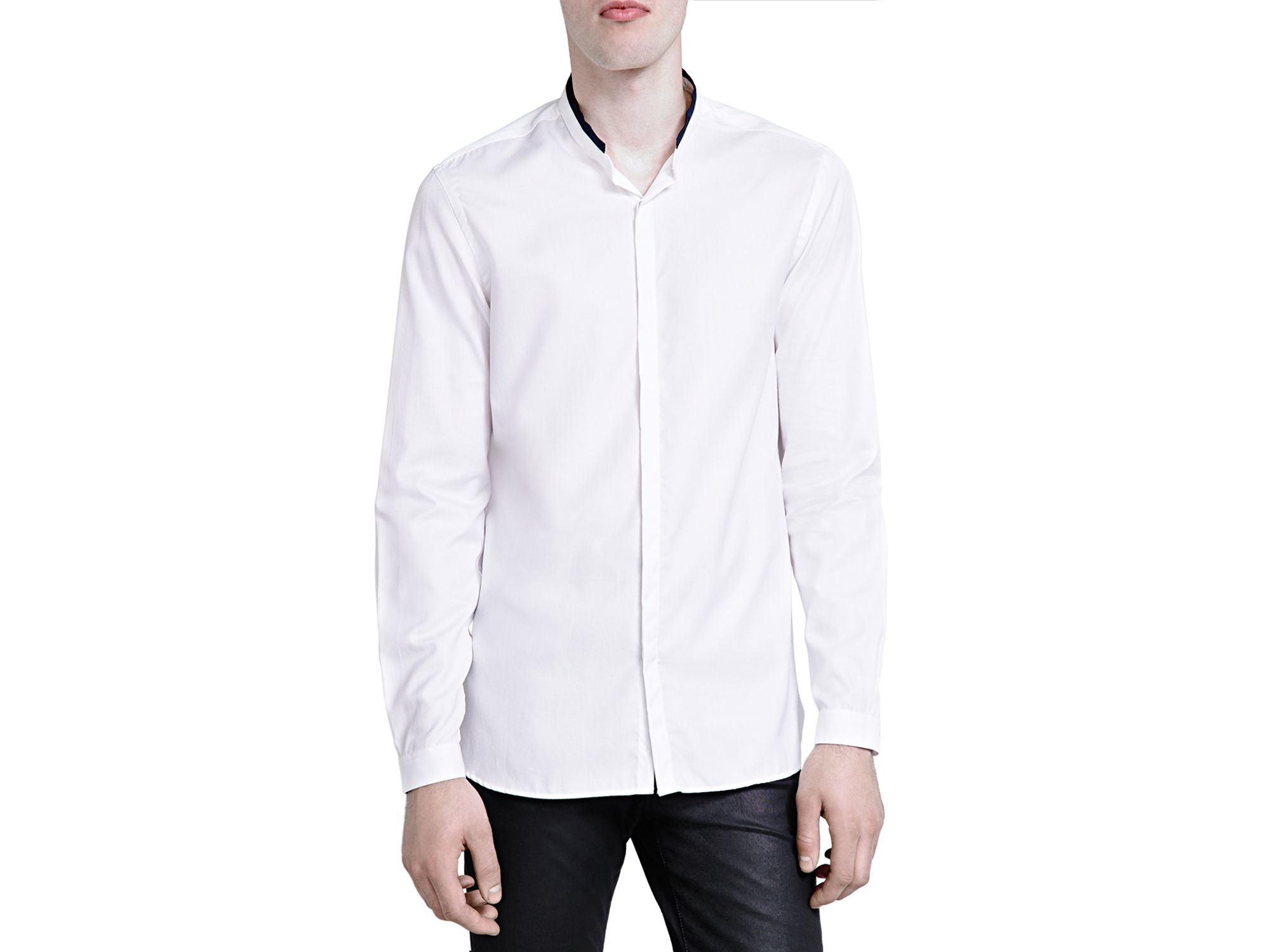 the kooples pique classic fit button down shirt in white