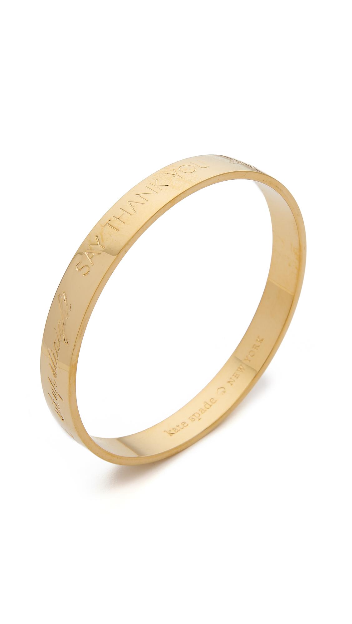 Kate Spade Mom Engraved Bangle Bracelet Gold In Metallic