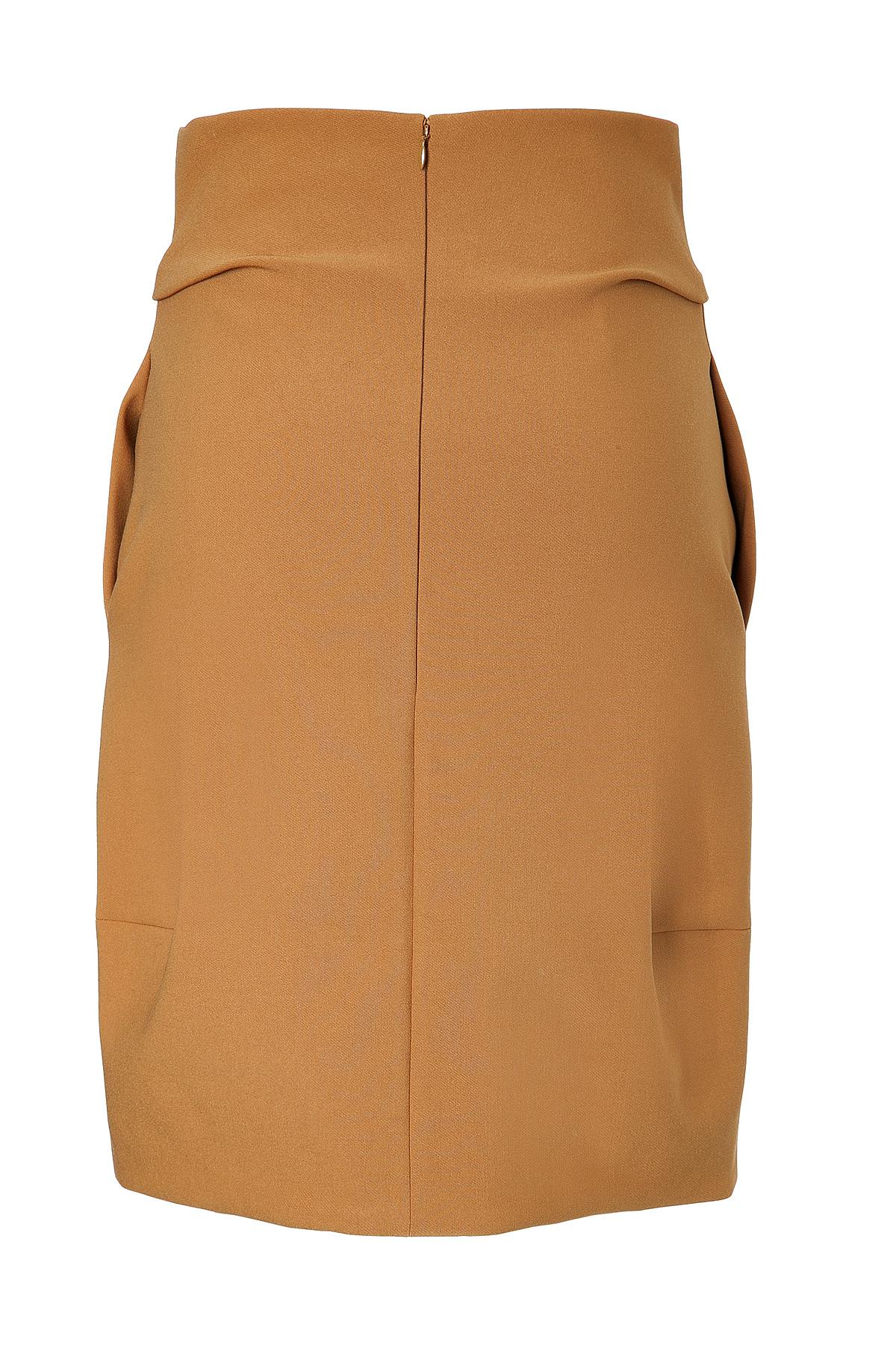 jil sander wool saetta pencil skirt camel in brown lyst