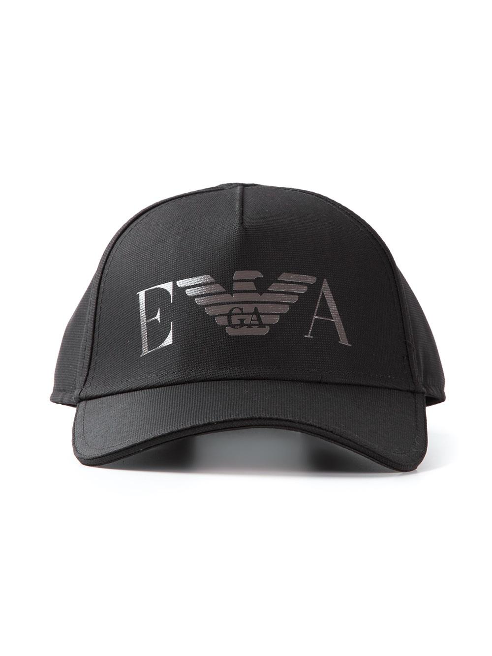 30f6b308aea Lyst - Emporio Armani Logo Cap in Black for Men