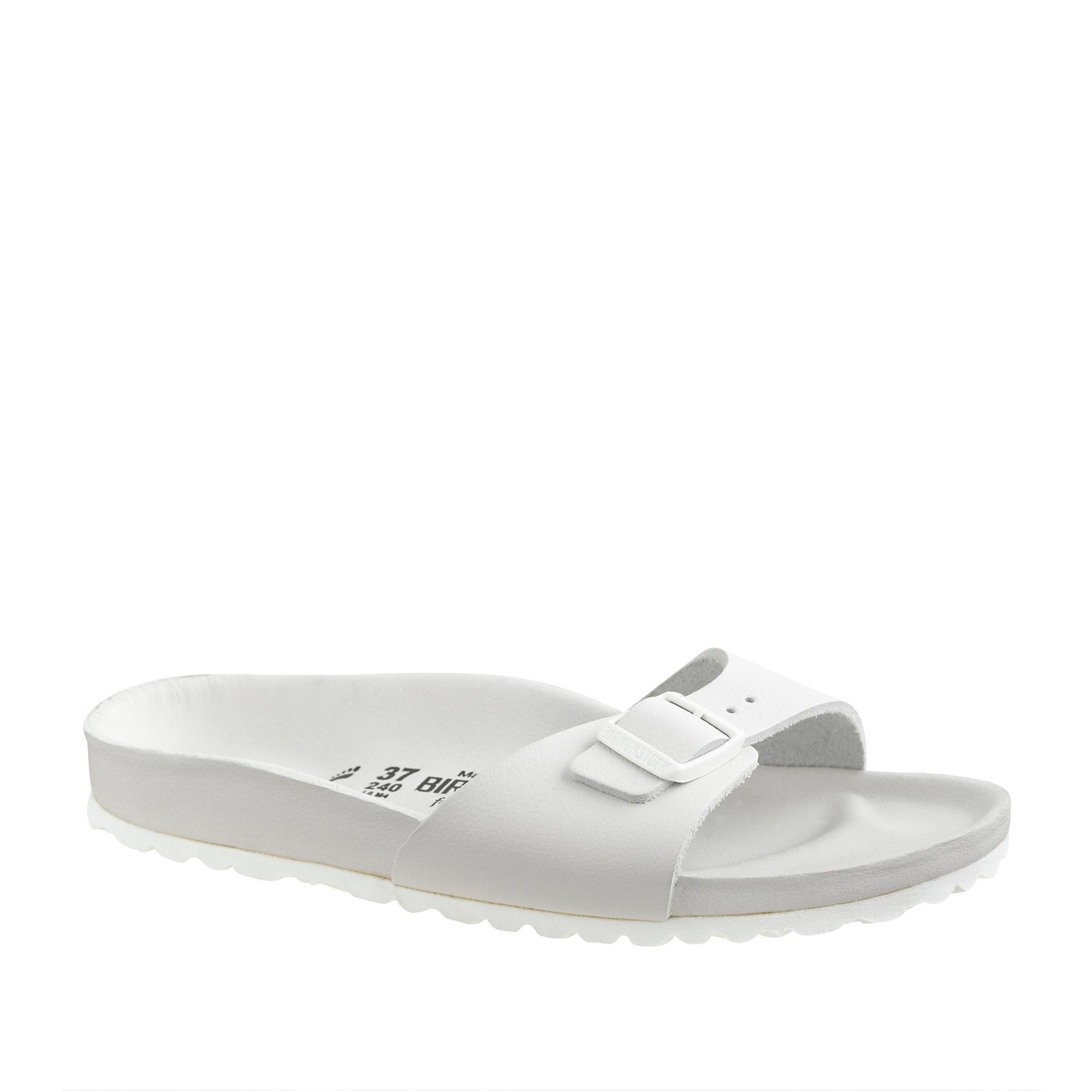 7561ddd47b5 Lyst - J.Crew Women s Birkenstock Madrid Exquisite Sandals in White