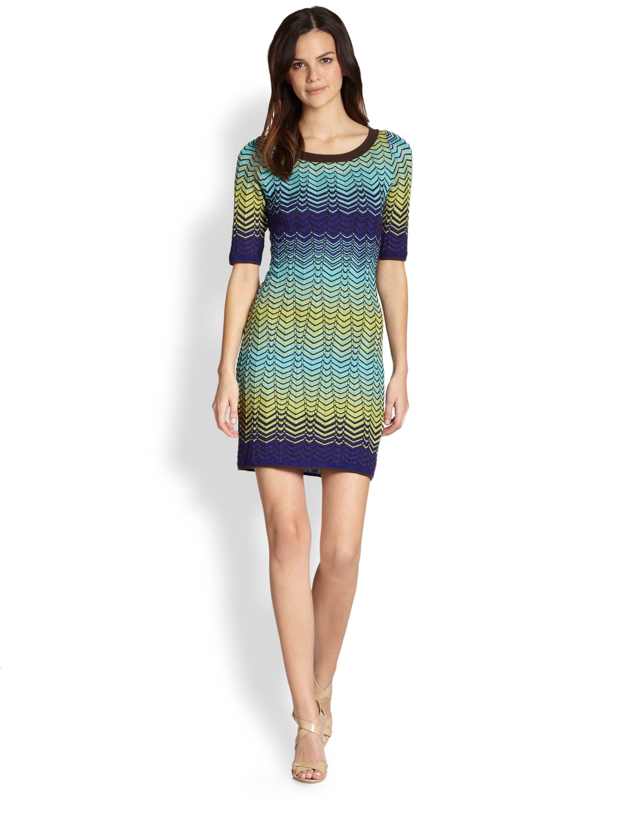 d4940cf38327 M Missoni Zigzag Knit Dress - Lyst