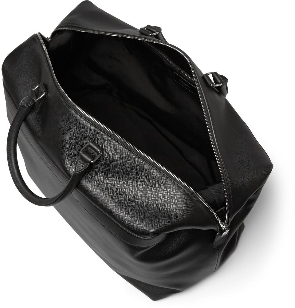 Lyst - Saint Laurent Pebble-Grain Leather Holdall in Black for Men 1bd1192e946c4