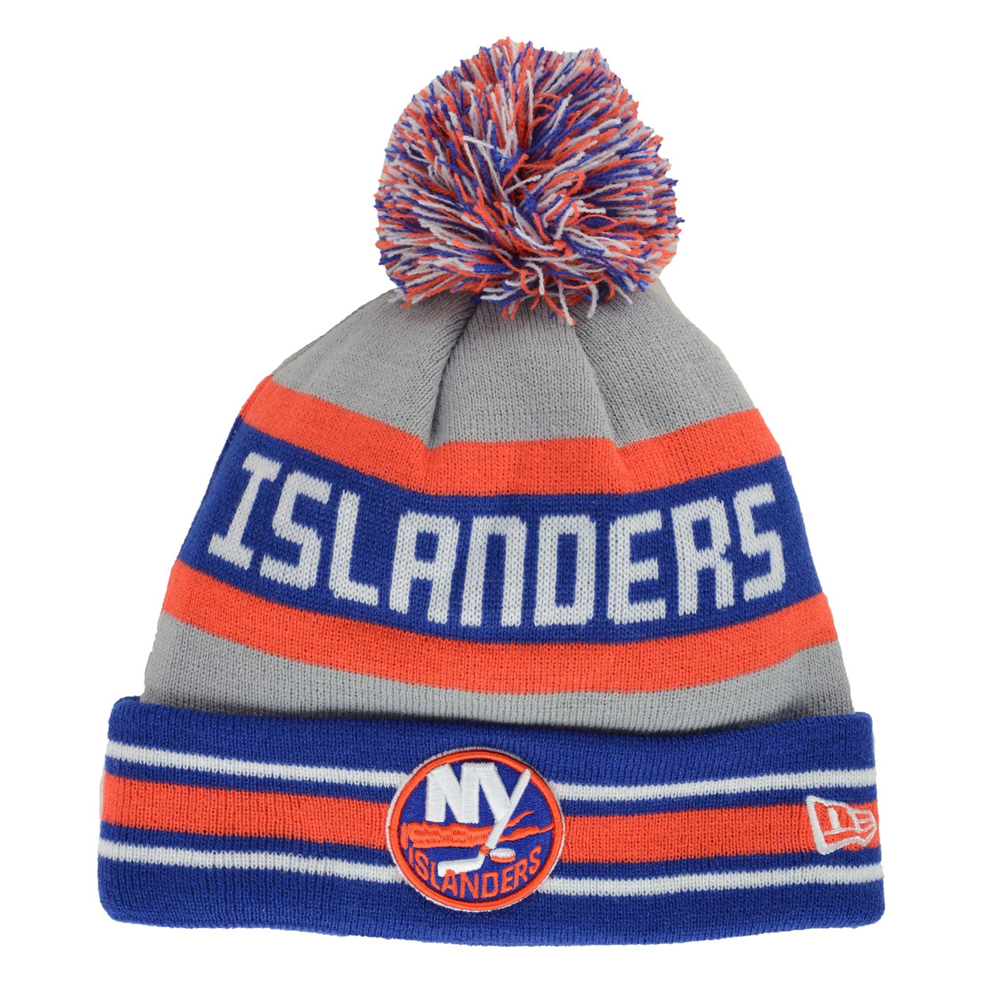 b22d2e68e4e ... low cost lyst ktz new york islanders jake pom knit hat in gray for men  f0386