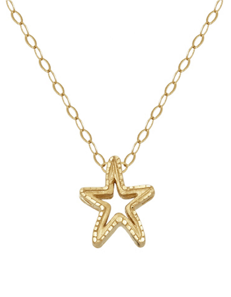 Lord + Taylor 14k Yellow Gold Starfish Charm Necklace in