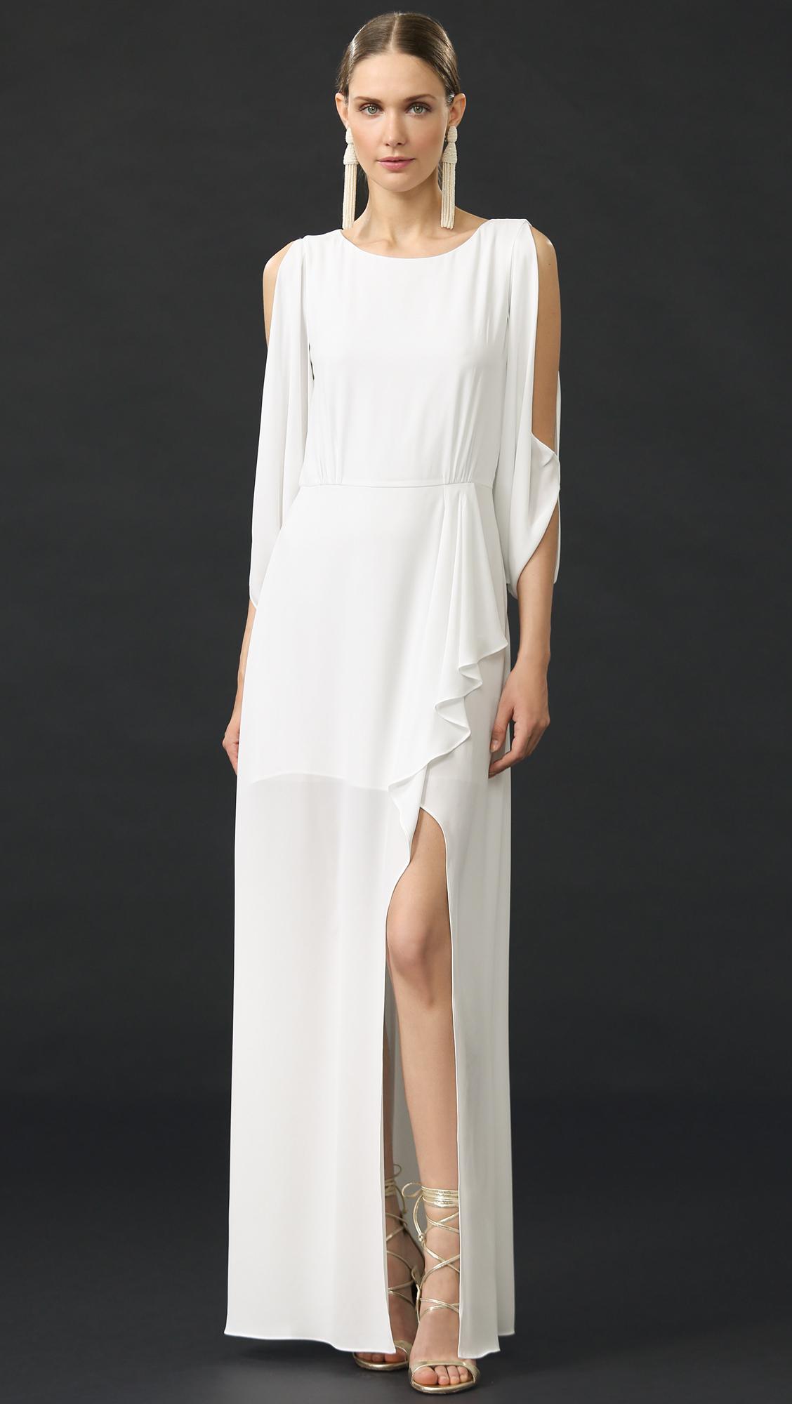 Lyst - Bcbgmaxazria Rayah Gown - White in White