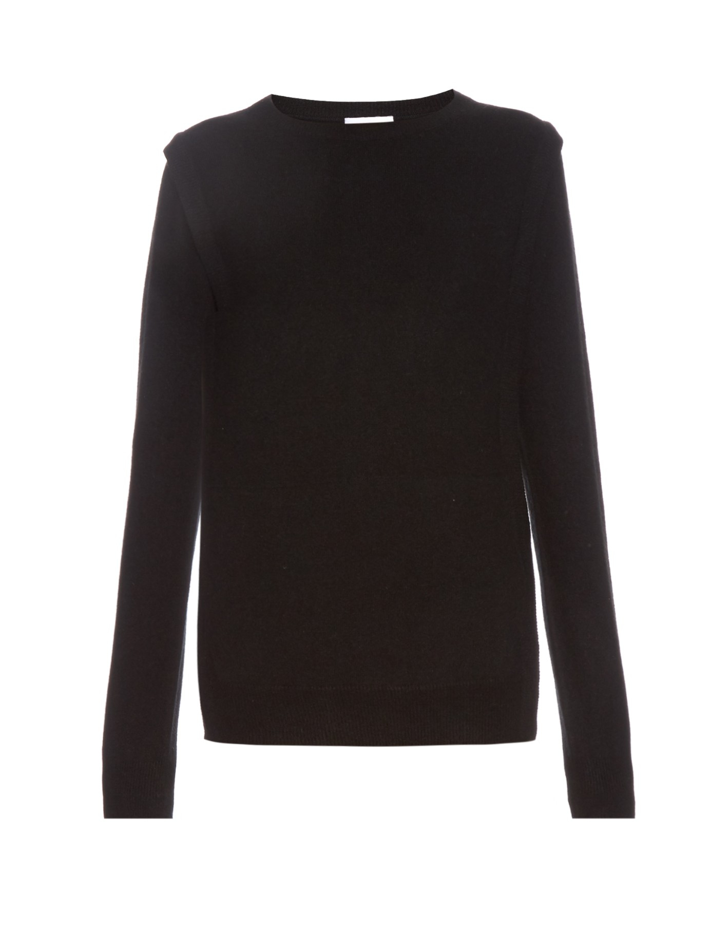 Raey Pocket-front Cashmere Sweater in Black