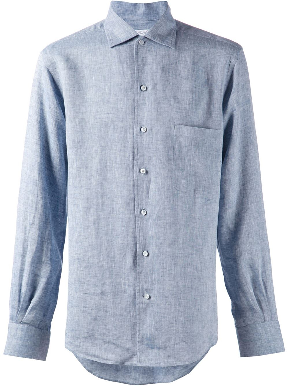 Loro piana spread collar shirt in blue for men lyst for What is a spread collar shirt