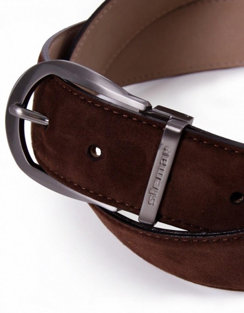 stemar bergano suede belt in brown for lyst