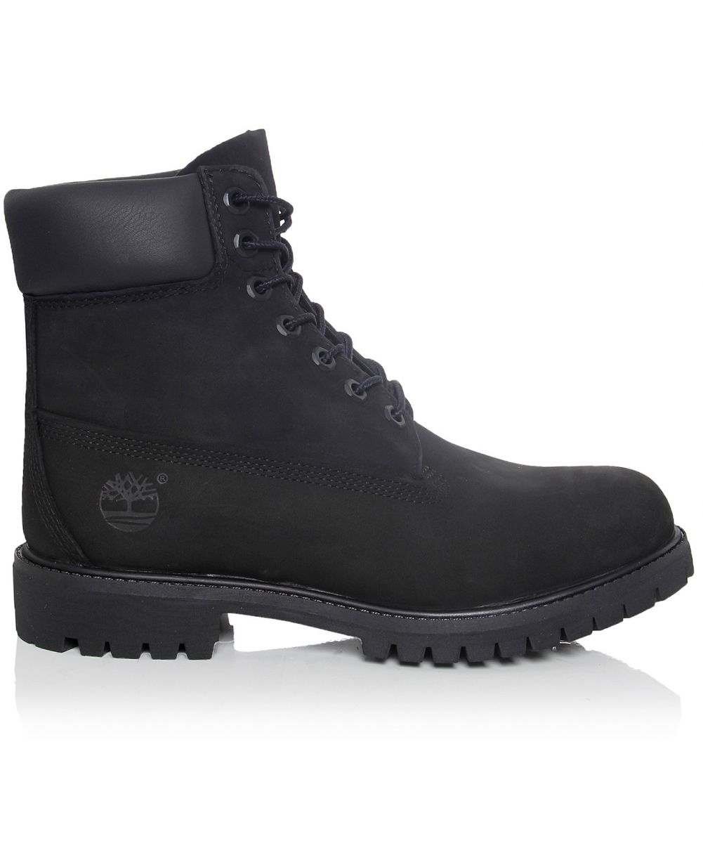 timberland 6 inch premium nubuck boots in black for men lyst. Black Bedroom Furniture Sets. Home Design Ideas