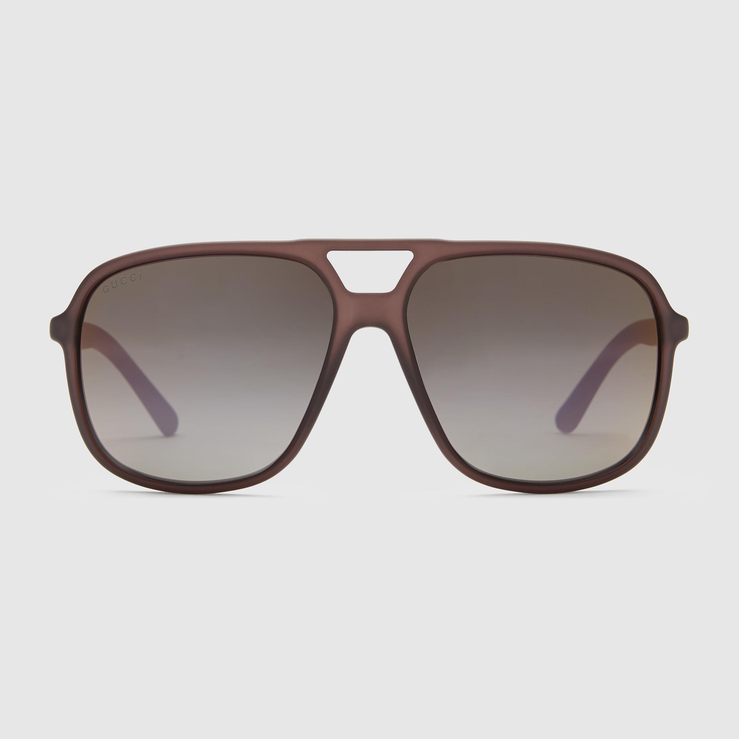 abde9b09dd8 Medium Aviator Sunglasses Gucci Logo Temple
