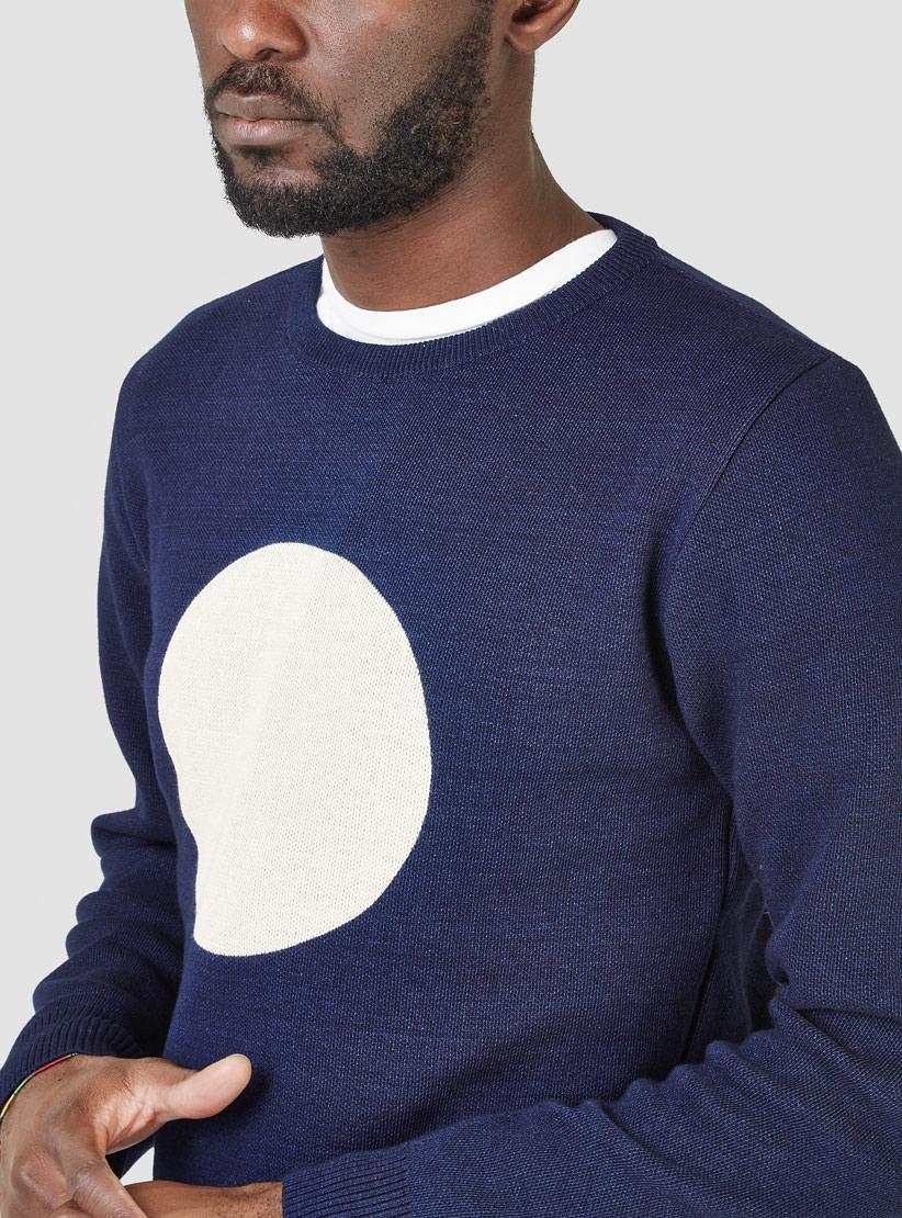Blue blue japan Knitted Indigo Circle Sweater Indigo in Blue for ...