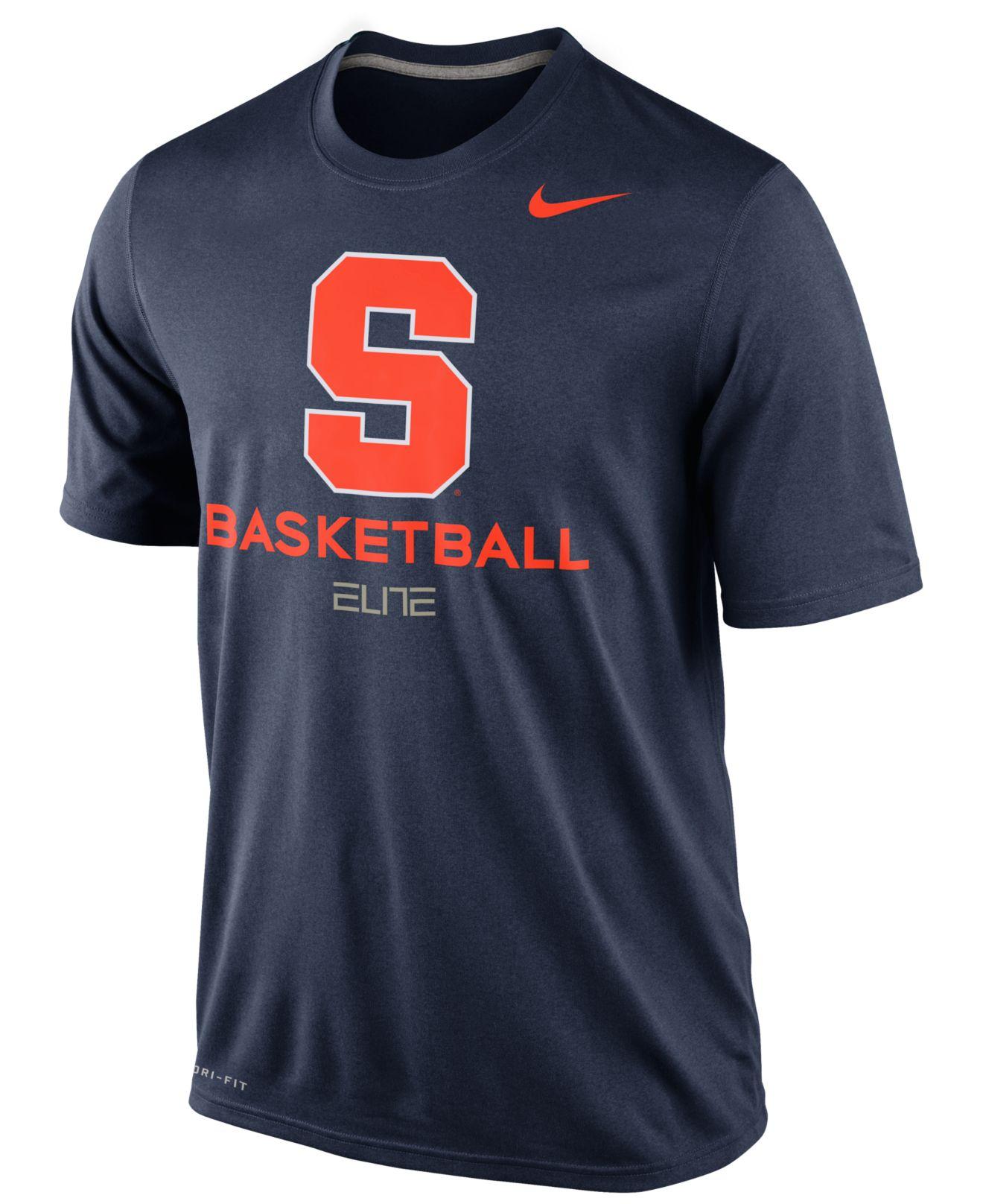 Nike men 39 s syracuse orange basketball practice t shirt in for Syracuse orange basketball t shirt