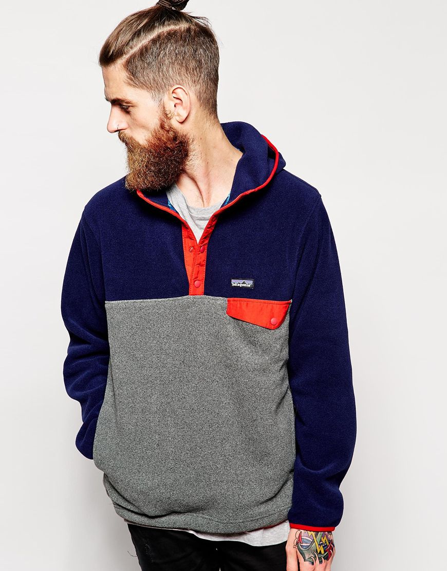 Lyst Patagonia Synchilla Snap T Fleece Hoodie In Gray