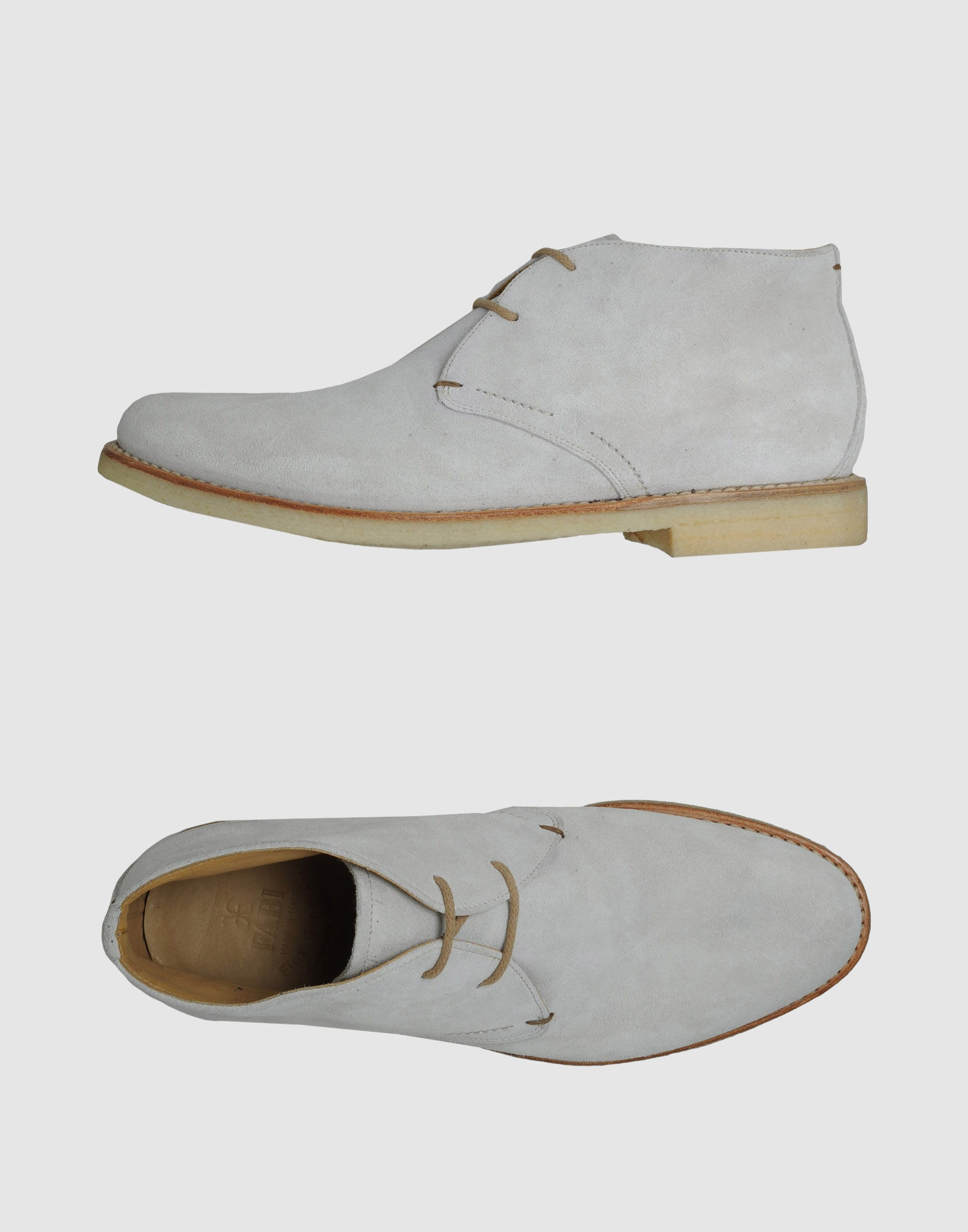 fabi suede high top desert boots in gray for lyst