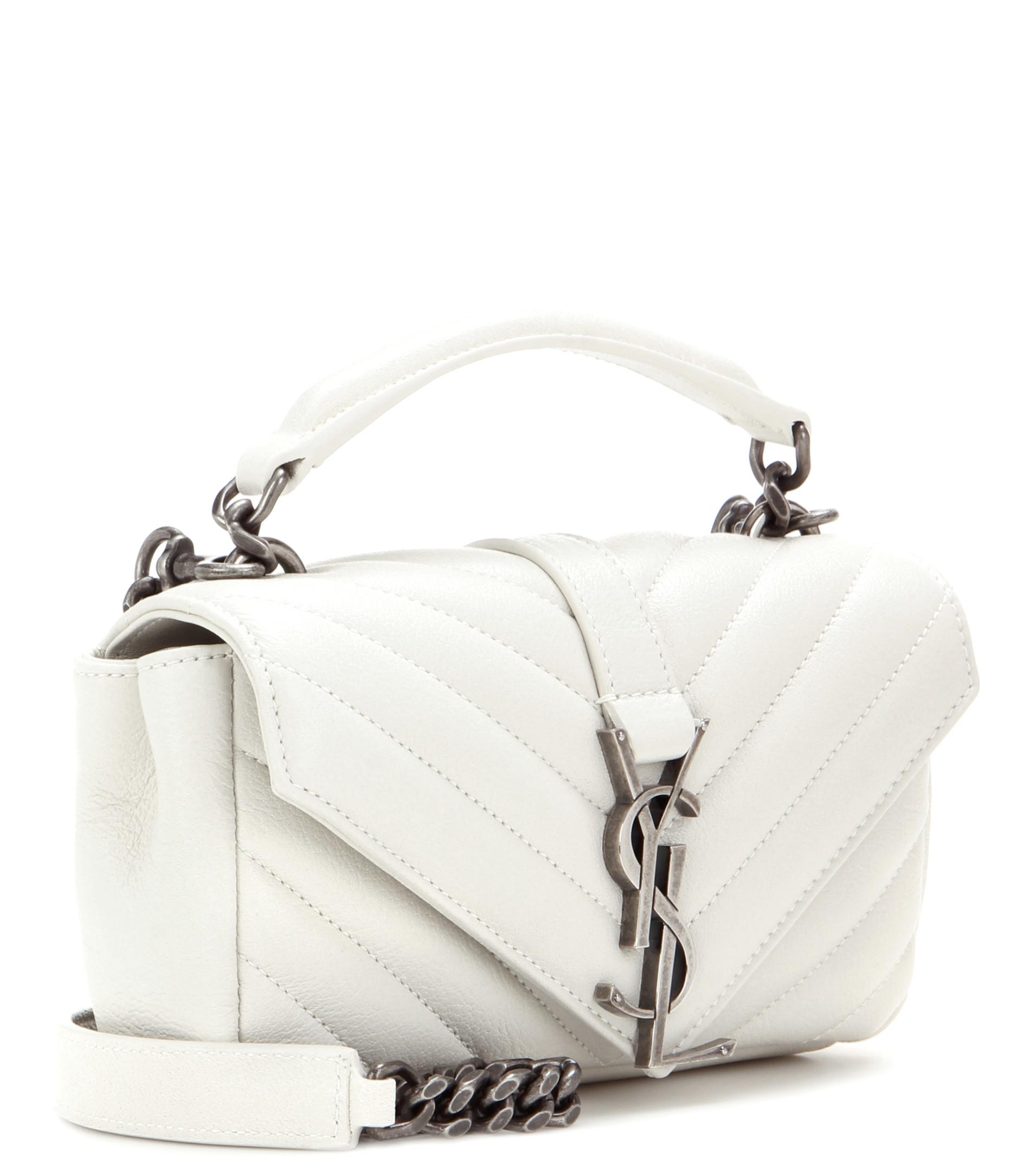 960963f66c04 classic medium monogram saint laurent college bag in powder pink matelasse  leather