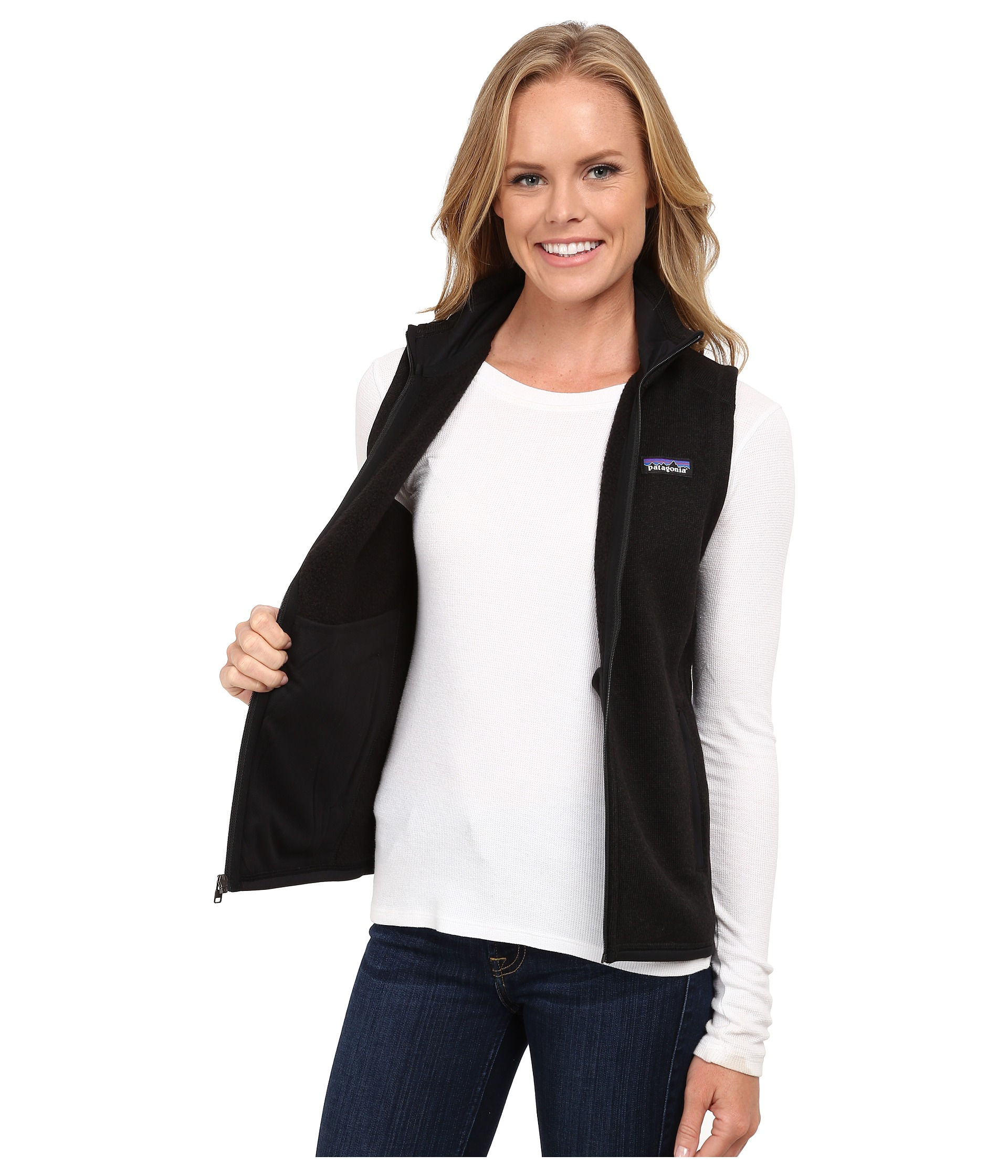 Patagonia Better Sweater Vest in Black | Lyst