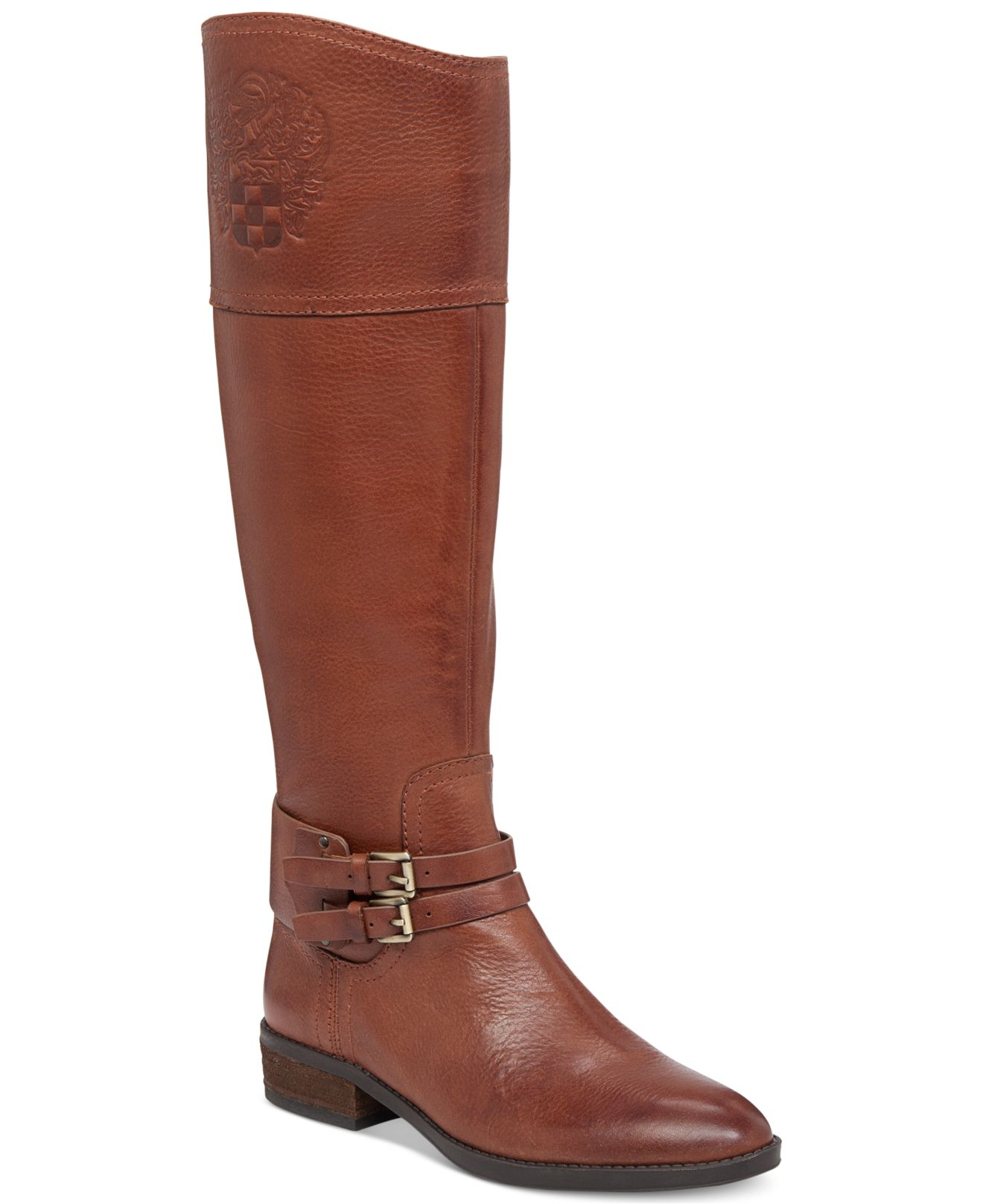 vince camuto pryna boots in brown rich cognac lyst