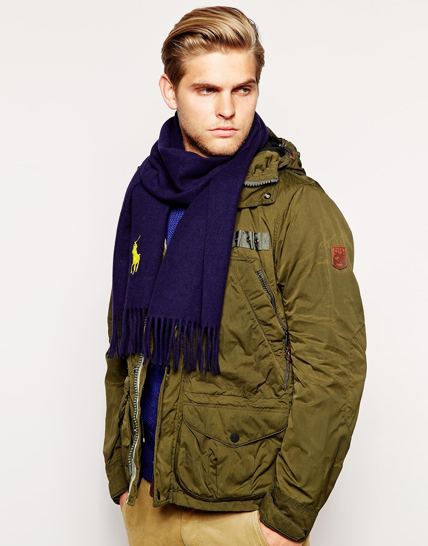polo ralph big pony scarf in blue for navy lyst